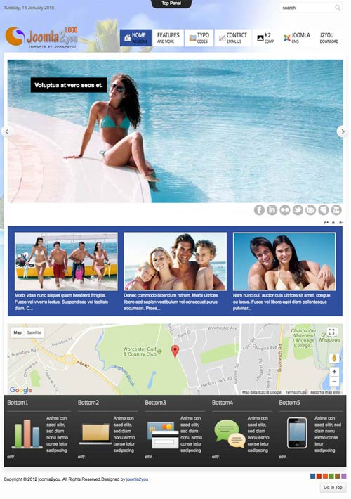 Holidays maker and hotel joomla template