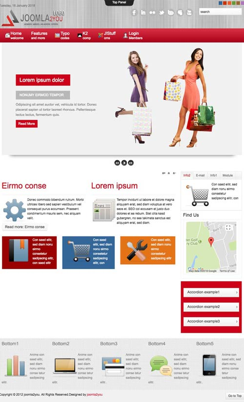 Virtuemart joomla template