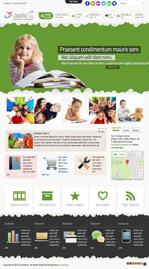 School education joomla template