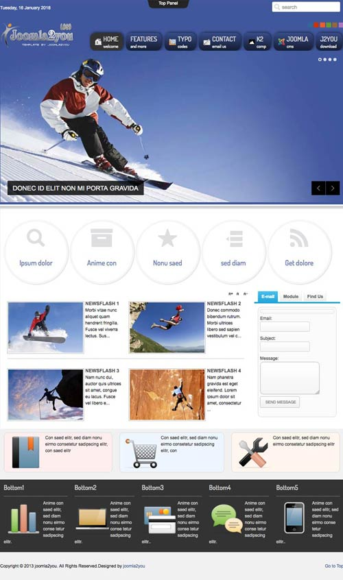 Sport and fitness joomla template