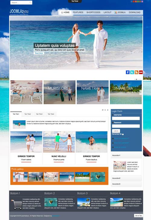 Holidays & Travel Agency Joomla Template