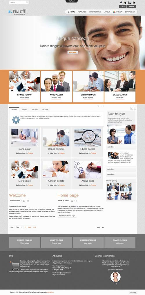 Business Joomla Template